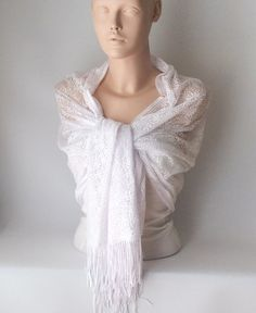 Wedding Shawl Bridal Shawl White Tulle  Wrap Shawl by BridalFairy