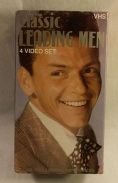 Classic Leading Men VHS - 4 Tape Box Set - Sinatra / Cagney / Grant / Stewart