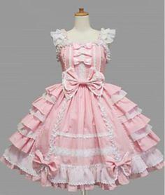 Pink Lolita cosplay dress| Harajuku bridesmaid dress idea| Harajuku Wedding ideas