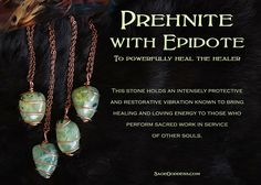 Are you a reiki practitioner, masseuse, doctor, nurse, care taker? If so this is the stone for you. Prehnite with Epidote helps to heal the healer. An excellent stone to wear during your work in service of others.
