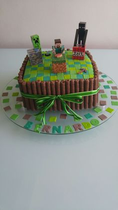 Bolo simples Minecraft Simple cake Minecraft