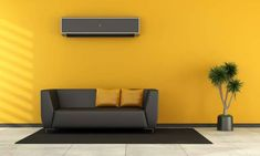 Cash Promise: Top 10 Air Conditioners in India for 2020 summers. Western Style, Interior Paint Colors, Interior Design, Therapy Office Decor, Black Couches, Torchiere Floor Lamp, Decorating Blogs, Colorful Interiors, Living Room