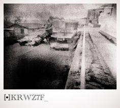 [•] r e v e r s i d e _ 27F Registro Estenopeico. Avenida Ercilla de Carahue tras el gran terremoto de 2010.