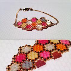 #bijoux #bijou #bracelets #brickstich #tissage #perles #miyuki