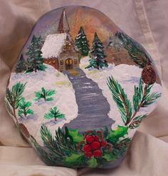 50 DIY Christmas Rock Painting Ideas (2)