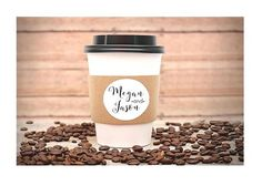 Custom Coffee Sleeves, 24 Paper Coffee Sleeves, Hot Tea or Cocoa Cup Cuffs, Wedding Shower Favors, Espresso Bars and Buffets by DetailsonDemand on Etsy Printed Coffee Cups, Wedding Shower Favors, Party Favors, Bridal Shower, Shower Party, Baby Shower, Coffee Cup Sleeves, Hot Cocoa Bar, Hot Chocolate Bars