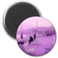 紫色の霞-ニースフランス マグネット