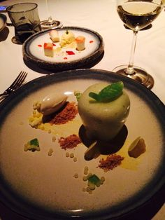 Apple desert. Molecular food