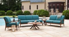 #Topaz cushion chat set from #JensenLeisure available at #Stauffers #Rohrerstown and #Mechanicsburg #Patio Showrooms.