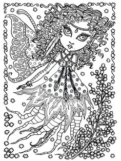 Foxie Fairy Tangles Printable Coloring Sheets By Norma J Burnell