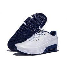 new arrival 54a41 6a130 Chaussures Nike Air Max 90 Blanc Bleu Femme Pas Cher