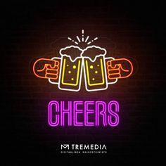 #madebytremedia #mainostoimistotremedia #internationalbeerday #tgif #friday #neonsign Tgif, Cheer, Friday, Neon Signs, Graphic Design, Instagram, Humor, Visual Communication, Cheerleading