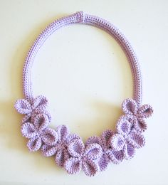 Crochet Flower Necklace No. 3 By ChabeGS - Free Crochet Pattern - (chabepatterns) //CROCHE board - ruhsar//