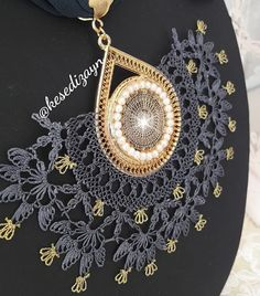 Crochet Earrings, Jewelry, Lace, Jewlery, Jewerly, Schmuck, Jewels, Jewelery, Fine Jewelry