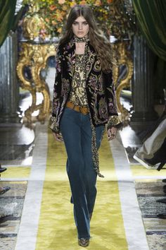 Roberto Cavalli, Mailand Fashion Week, Herbst/Winter-Mode 2016/17