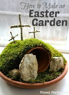 Make an Easter Garden with your family as a way to focus your hearts on the true reason we celebrate Easter!
