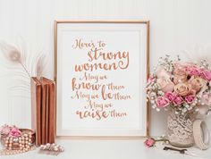 Digital Art   Printable Art   Printable Quote   Rose Gold Faux Foil   Inspirational Quote   Wall Art Quote   Wall Art Print   Quote Print by SmudgeCreativeDesign on Etsy