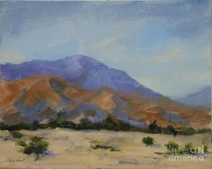 San Gorgonio Pass Painting - Mt. San Jacinto In Morning Light by Maria Hunt
