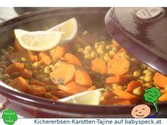 Kichererbsen-Karotten-Tajine, orientalisch angehauchtes veganes BLW-Rezept für geschickte Babys und fingerfertige Kleinkinder.
