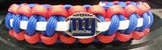 New York Giants Paracord Bracelet w/ by ArmCandyDesignsTN on Etsy, $16.00