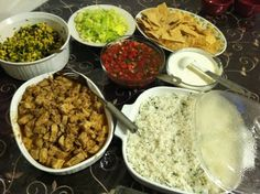 Chipotle Copycat Recipes: Cilantro Lime Rice, Chicken Marinade, Pico de Gallo, Corn Salsa... be sure to read the comments section for helpful hints (from former Chipotle employees)   Em Maliks Kitchen: