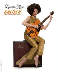 Lynda Kay, a Gretsch Roundup and big old amp . . . ah yeah!