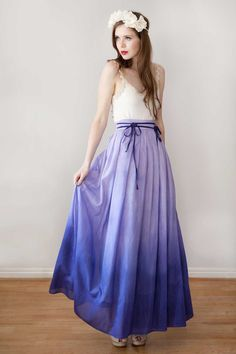 Long Skirt Maxi Skirt 'Lily skirt  in Lilac' by Archella on Etsy, $180.00