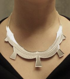 Millennium Bridge (London) Statement Necklace by CutOutsProductDesign on Etsy