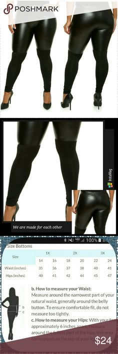 Knit and Faux leather leggings Sporty and fun knit and faux leather stretch leggings. Pair with a top, sweater, or a denim jacket. Finish with a pair of heels or your favorite pair of flats..Thank you and Happy Poshing!!! Pants Leggings