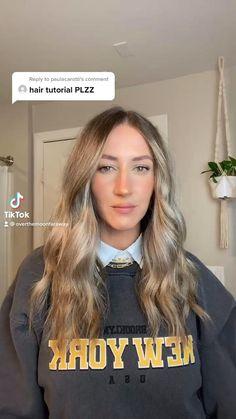 Summer Hairstyles For Medium Hair, Curled Hairstyles, Beach Hairstyles, Medium Hair Styles, Short Hair Styles, Natural Hair Styles, Curly Hair Tips, Aesthetic Hair, Hair Videos