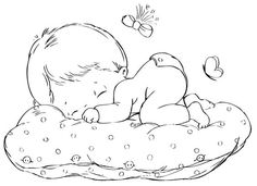 Digi Stamps of babies Clipart Baby, Baby Painting, Fabric Painting, Quilt Baby, Precious Moments Coloring Pages, Baby Embroidery, Embroidery Patterns, Baby Clip Art, Baby Drawing