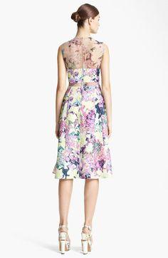 The back!  Why I love Erdem!  Erdem Imperial Rose Print Silk Brocade Dress