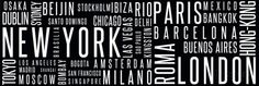 City - Typography Poster at AllPosters.com