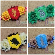 Potter House Headbands-Wizard Headband-Harry Headband-Colored Flag Headband-Wizard School Headbands-Wizard Potter Accessory-Wizard Cosplay - pinned by pin4etsy.com