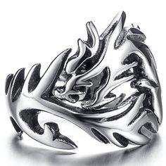 Rings - Stainless Steel Solid Inside Dragon Rings