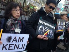 HAPPENING NOW IN #TOKYO - Silent vigil in #Shibuya for hostages killed by #IS #KenjiGoto