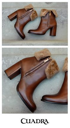 Un modelo femenino, elegante e invernal. #furbooties #brownbooties #chicbooties #winterbooties #botinesdepiel #botinesdetacon #botineselegantes #botinesdeinvierno #modamujerinvierno2018 #botinesconjeans Fab Shoes, Crazy Shoes, Dream Shoes, Cute Shoes, Shoes Sandals, Me Too Shoes, Jeans Y Botas, Bootie Boots, Heeled Boots