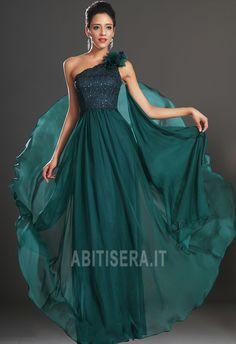 907245971b31 Abito da sera Un Fiore Strap Naturale Senza Maniche Gioiello Corpetto  Accentati Classy Prom Dresses