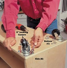 How to Build a Compact Folding Workbench with Storage Workbench With Storage, Garage Workbench Plans, Workbench Stool, Building A Workbench, Folding Workbench, Workbench Ideas, Mobile Workbench, Diy Projects Garage, Diy Garage