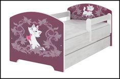 Disney children's bed Aristocat Marie – Kiddymill Magical Room, Childrens Desk, Mattress Frame, Bed With Drawers, How To Make Bed, Toy Boxes, Kid Beds, Cot, Disney Magic