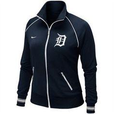 Woman's Detroit Tigers Baseball Jacket ~ Nike Detroit Tigers Apparel, Detroit Sports, Detroit Tigers Baseball, Football, Tiger Clothing, Nike Gear, Tiger T Shirt, Active Wear For Women, Sport Girl