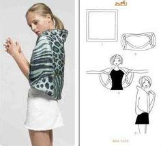 how to wear a scarf the other way :)