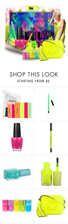 """Neon Beauty#1"" by ilona2010 ❤ liked on Polyvore featuring beauty, Tweezerman, Urban Decay, claire's and Anya Hindmarch"