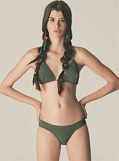 Biquíni de crochê - Moda, Beleza, Estilo, Customizaçao e Receitas - Manequim - Editora Abril Material • 1 novelo com 5...