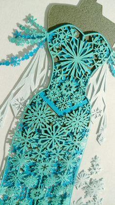 切り絵のドレス✨ディズニープリンセス アナと雪の女王 | コトコト切り絵中