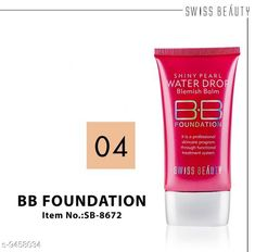 Checkout this latest BB & CC Cream Product Name: * BB Cream* Product Name:  BB Cream Brand Name: Swiss Beauty Type: Cream Multipack: 1 Country of Origin: India Easy Returns Available In Case Of Any Issue   Catalog Rating: ★4.3 (286)  Catalog Name: Swiss Beauty Proffesional Perfect BB & CC Cream CatalogID_1662948 C173-SC1981 Code: 671-9458034-213
