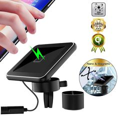 S8 and Other Android Smartphone. X Air Vent Holder S10 Compatible for iPhone 11 10W Fast Charging Car Phone Mount and 8 Galaxy S20 AAUXX iRing Slide Wireless Car Charge S9 Xs 11Pro