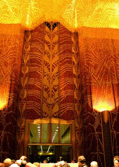 Irving Trust Building - Red Banking Room, One Wall Street - Ralph Walker, Architect - New York Art Deco | Flickr - Photo Sharing!