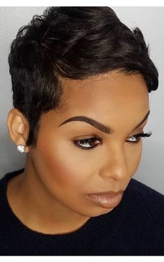 Short Wigs, Short Pixie, Black Women Hairstyles, Straight Hairstyles, Natural Straight Hair, Hairstyle Short, About Hair, Her Hair, Hair Ideas