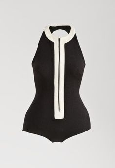 Swimsuit, Catalina Sportswear (United States, founded 1907): ca. 1964, California, spandex, zipper.  | LACMA Collections